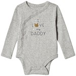 Gap Daddy Omlott Baby Body Grå