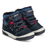 Geox Navy Omar Waterproof Zip and Lace Boots