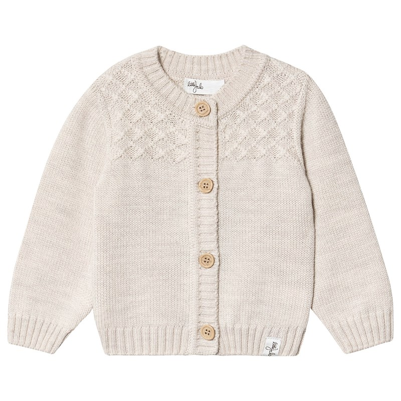 Little Jalo Knitted Baby Cardigan Cream 74 cm