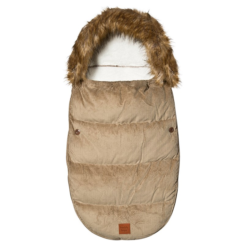 Buddy & Hope Footmuff Corduroy Pile Beige One Size