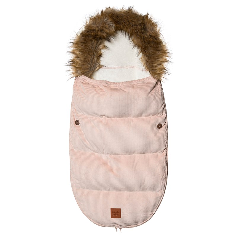 Buddy & Hope Footmuff Corduroy Pile Pink One Size