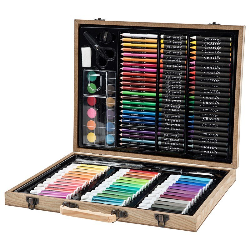 Bilde av Art Park Art Park Paint Kit Deluxe Wooden Box 150 Pcs 6+ Years