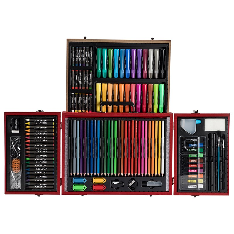 Bilde av Art Park Art Park Paint Kit Deluxe Double Layer Wooden Box 116 Pcs 6+ Years