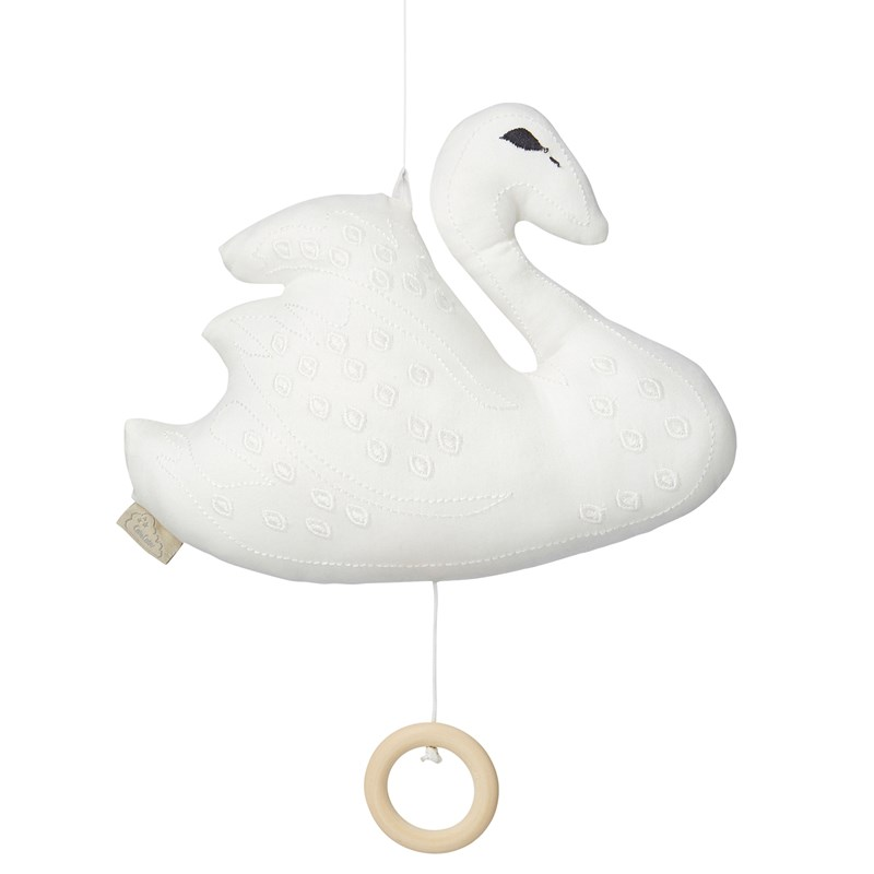 Cam Cam Swan Musik Mobil Vit One Size