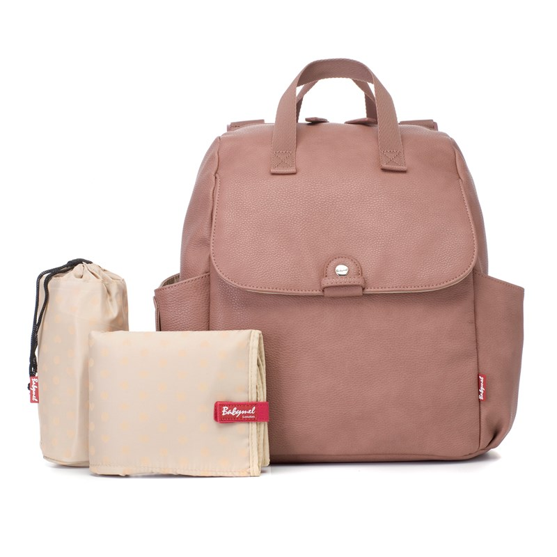 Bilde av Babymel Robys Convertible Backpack Faux Leather Dusty Pink One Size