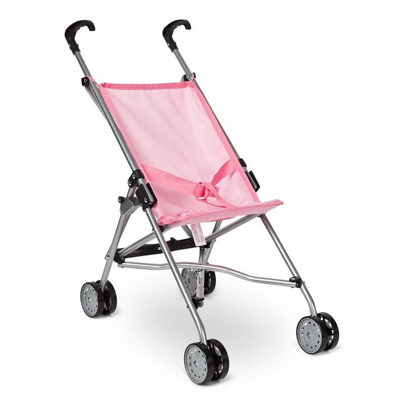 STOY Dolls Mini buggy stroller Pink on Pink One Size