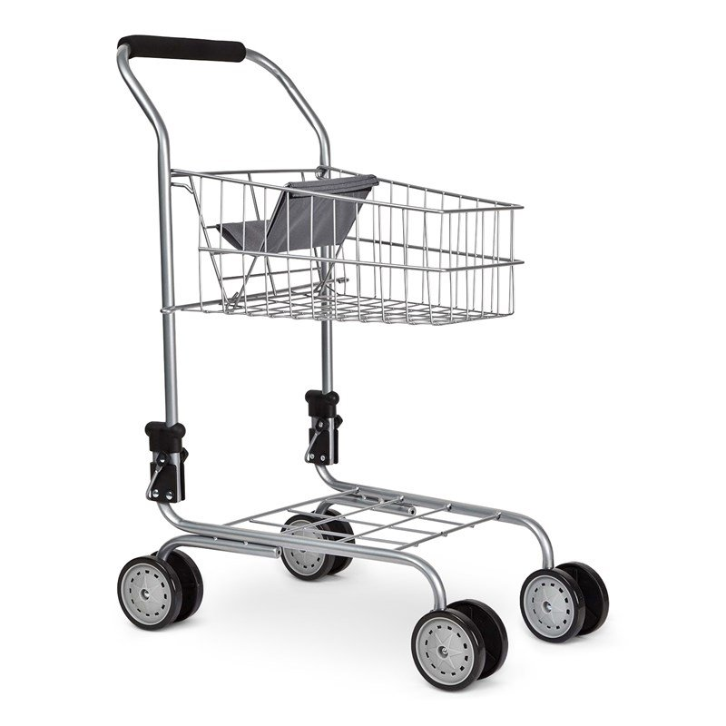 STOY Shoppingvagn med Docksits Grå/Metallic 3+ years