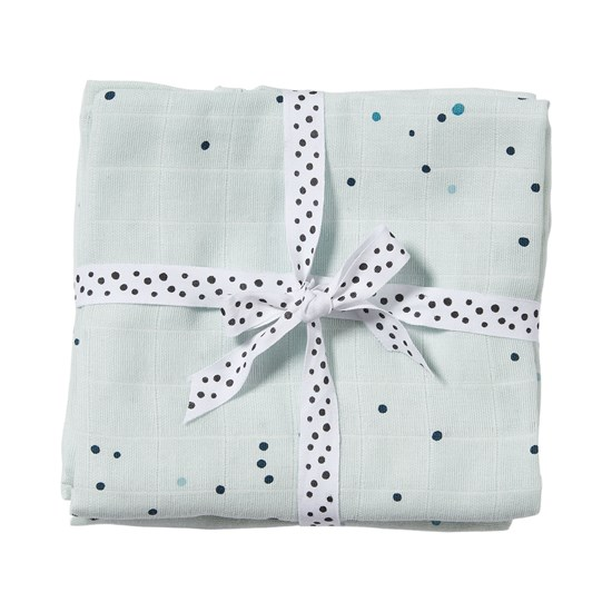 Done by Deer 2-pack Dreamy Dots Swaddle Blå