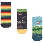 Frugi 3-Pack Strumpor Bike/Helicopter