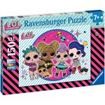 Ravensburger Pussel LOL Ready for the Party 150 Bitar