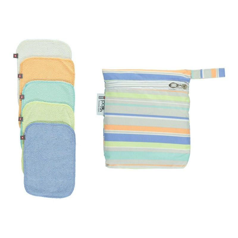 Close Pop-in 10-pack Bambu Torklapp Pastell One Size