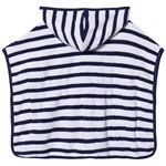 Hatley Nautical Stripe Bad Poncho Marinblå/Vit