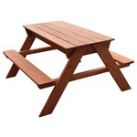 Sunny Dave Sand & Water Picnic Table Brown