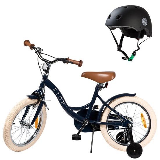 Bicycle 16 Vintage and Helmet Navy Blue/Black