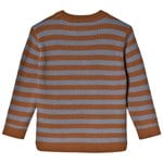 Kuling Wool Rib LS Shirt Brown/Blue Stripe