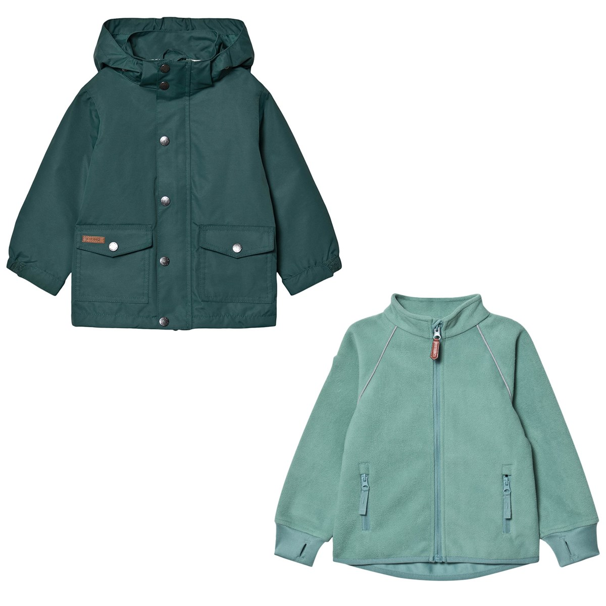 Köp Kuling Shell Jacket and Wind Fleece Jacket Deep Green