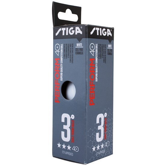 STIGA Sports 3-Pack Perform 3-star Bordtennisbollar Vita