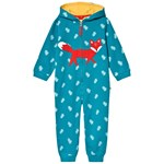 Frugi Teal  GOTS Organic Squirrel Appliqué Kids All in One
