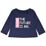 Levis Kids The Future Is Me Baby T-shirt Marinblå