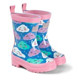 Hatley Blue Cheerful Clouds Shiny Wellies