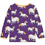 Småfolk Horses T-shirt Imperial Purple