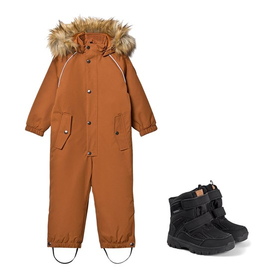 Kuling Verbier Winter Coverall and Winter Boots Brown/Black