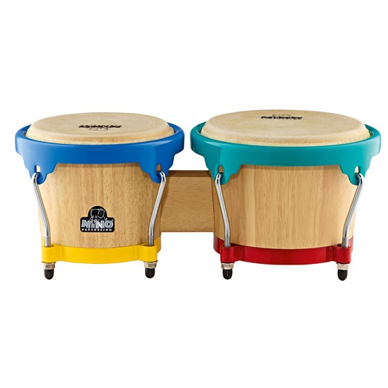 NINO® Percussion Wooden Bongo Drums 6 1/2 & 7 1/2