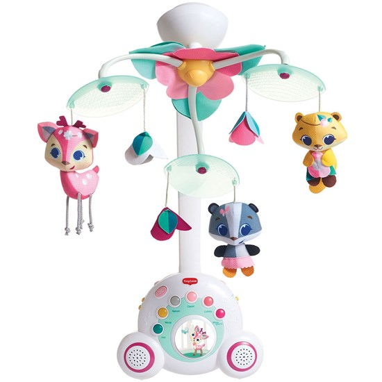 Tiny Love Soothe 'n Groove Musical Cot Mobil Rosa