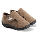 Hummel Wool Velcro Strap Infant Tofflor Tan