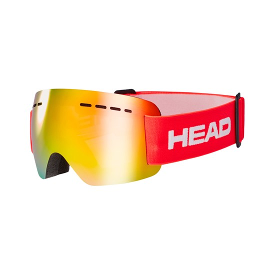 HEAD SOLAR JR FMR Ski Goggles, Red